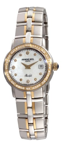 Raymond Weil Women's 9440.STS97081 Parsifal Two-Tone Mother-Of-Pearl Diamond Dial Watch