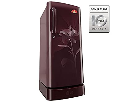 LG GL-D241ASLN.DSLZEBN Direct-cool Single-door Refrigerator (235 Ltrs, 5 Star Rating, Scarlet Lily)