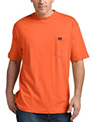 RIGGS WORKWEAR by Wrangler Men's Big & Tall Pocket T-Shirt, Safety Orange, XXXX-Large