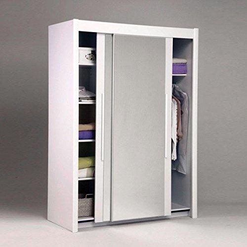 Schwebetürenschrank weiß 2 Türen B 156 cm Spiegelschrank Kleiderschrank Kinderzimmer Jugendzimmer Schrank Kinderzimmerschrank bestellen