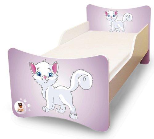 Best For Kids LIT POUR ENFANT 70x140 Kitty I + Matelas + à lattes + Labels