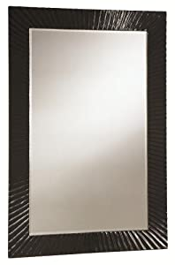 Best Expense Modern Accent Mirror with High Gloss Black Frame by ...