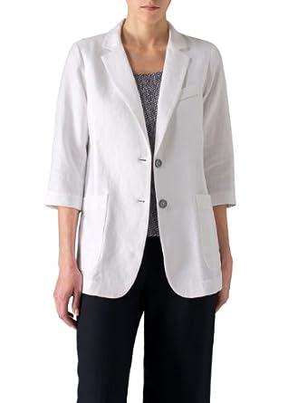 Vivid Linen Single Breasted Jacket at Amazon Women's Coats