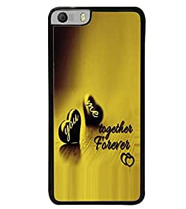 Fuson Premium Together Forever Metal Printed with Hard Plastic Back Case Cover for Micromax Canvas Knight 2 E471