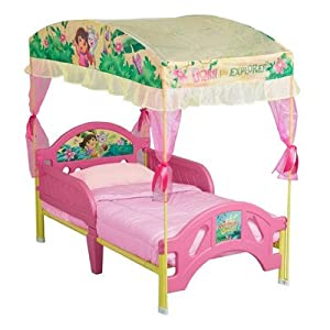 Nickelodeon's Dora the Explorer Toddler Bed with Canopy from Delta Children's Products