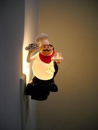 Pastry Cake Chef Kitchen Night Light Bistro Italian