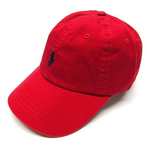 【ラルフローレン】Ralph Lauren Chino Baseball Cap ベースボールキャップ (022-Red) [並行輸入品]