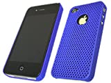 ITALKonline MESH NET BLUE Super Hydro Gel Protective Armour/Case/Skin/Cover/Shell for Apple iPhone 4 4G HD