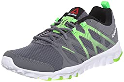 Reebok Men\'s Realflex Train 4.0 Training Shoe, Alloy/Solar Green/White/Black, 11 M US