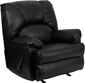 Flash Furniture WM-8500-371-GG Contemporary Apache Black Leather Rocker Recliner