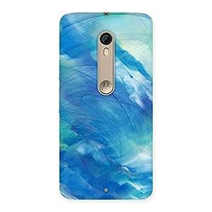Impressive Art Blue Multicolor Back Case Cover for Motorola Moto X Style