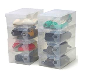 Forepin 15 x universal halbdurchsichtige schuhboxen - Scatole scarpe ikea ...