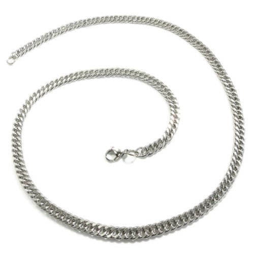 Kaon Stainless Steel Curb Chain Men Necklace 7MM 30 inches
