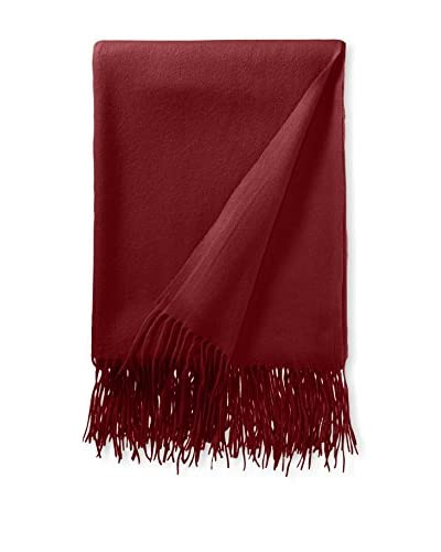 A&R Cashmere Waterwave Throw, Claret, 50x65+6 Fringe