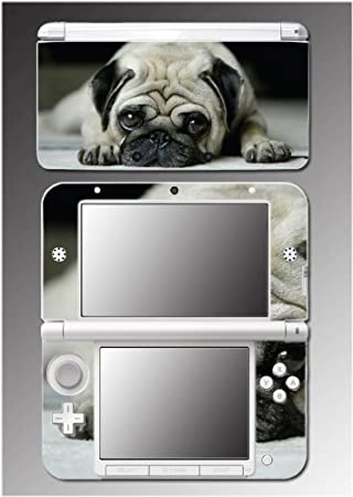 Dog Cute Puppy Pug Black White Pet Doggy Video Game Vinyl Decal Cover Skin Protector 13 Nintendo 3DS XL