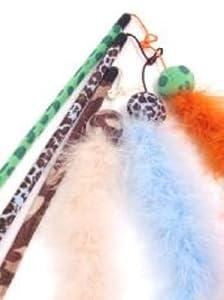 (Jolly Moggy) Feather Boa Cat Teaser Orange