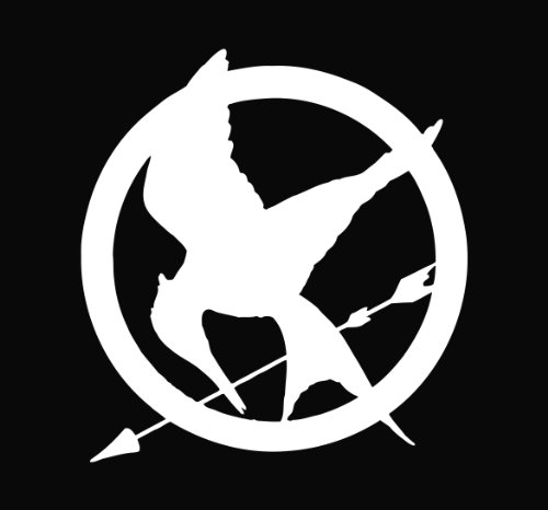Mockingjay The Hunger Games Vinyl Decal Sticker Wht
