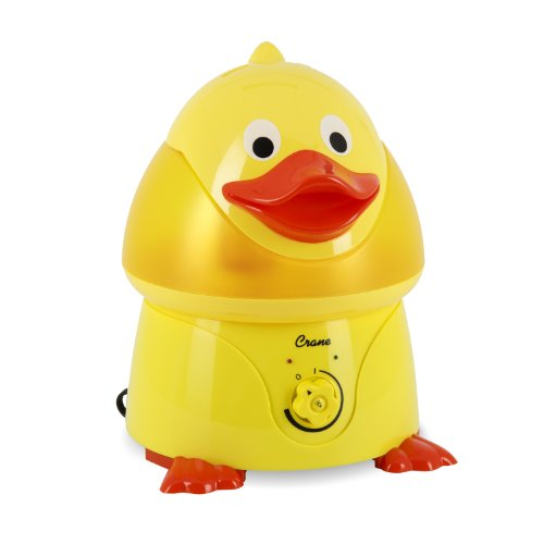 Crane Adorable Ultrasonic Cool Mist Humidifier with 2.1 Gallon Output per Day – Duck