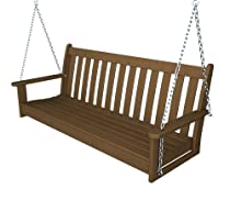 "Big Sale Recycled Plastic 60"" Swing (Includes Chain Kit) by Polywood Frame Color: Teak"