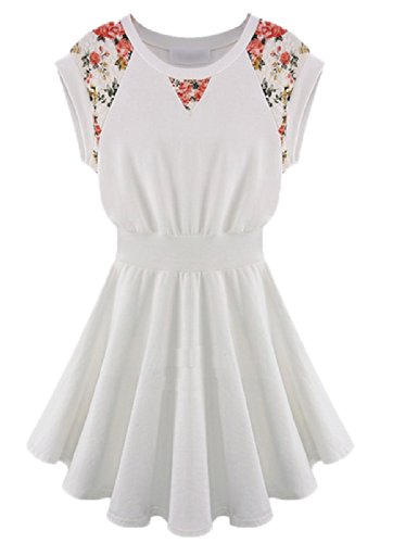 Girl Vintage Floral Ruffle Evening Party Prom Summer Sleeveless Dress
