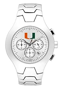 Miami Hurricanes Hall Of Fame Sterling Silver Watch by Logo Art