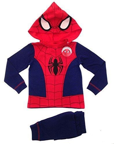 lora-dora-pigiama-due-pezzi-maniche-lunghe-ragazzo-rosso-red-blue-hooded-spiderman