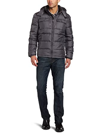 (再降)Kenneth Cole Men's Down Jacket 男士短款连帽羽绒服,2色$89.99