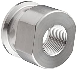 Dixon 22MP-R15075 Stainless Steel 316L Sanitary Fitting, Clamp Adapter, 1-1/2\