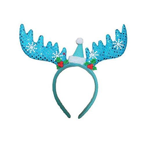[Christmas GERGER BO Christmas Three - dimensional Santa Claus snow headband buckle(Blue)] (Gumdrop Costume Ideas)