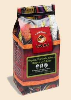 Lacas Coffee Company Fair Trade Organic Mexican Dark - Chiapas Whole Bean 12 Oz.