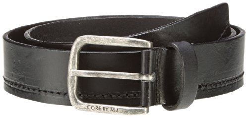 Jack & Jones Jesper Belt - Cintura, uomo Nero (Schwarz (Black / SILVER BUCKLE)) 85- DE