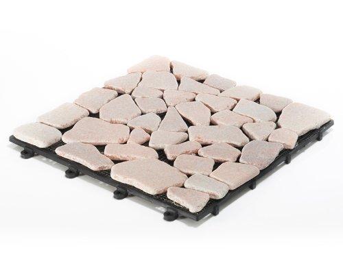 Balkonfliesen Mosaic Sandstein 11 Stück