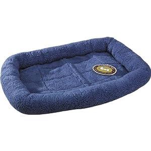 Slumber Pet Sherpa Slate Blue Dog Crate Bed, Medium