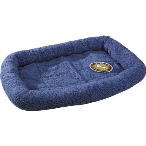 Slumber Pet Sherpa Slate Blue Dog Crate Bed, Medium front-285963