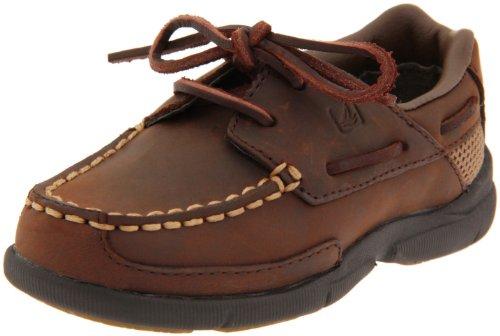 Sperry Top-Sider Charter Boat Shoe (Toddler/Little Kid/Big Kid),Dark Brown,6 M US Big Kid