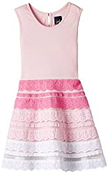 Herberto Girls' Party and Evening Dress (HRBT-DRESS-112-4_Pink_9 - 10 years)