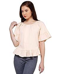 Oxolloxo Women cotton peach top
