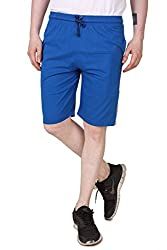 Aventura Outfitters Single Jersey Shorts Royal Blue with Orange Stripes & Two White Piping - M (AOSJSH303-M)