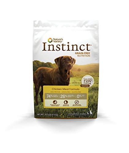 Nature's Variety Instinct Grain Free Chicken Meal Formula Dry Dog Food, 25.3 lb. Bag (Cheap Grain Free Dog Food compare prices)