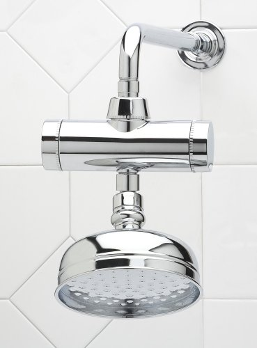 POWER SHOWER AND FIXED HEAD. Stylish Chrome dechlorinating shower filter removes 99.9% of chlorine and softens your shower water. Fantastic for sensitive dry skin or skin prone to eczema. So why suffer from dry skin when you and your family can enjoy the