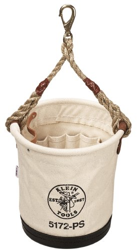 Klein Tools 5172PS Heavy-Duty Tapered-Wall Bucket with 15 Inside Pockets