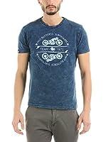 HOT BUTTERED Camiseta Manga Corta Motorbike (Indigo) (Azul Marino)