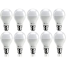 Syska 15 Watts Unbreakable LED Bulb (Pack Of 10, Cool Day Light) Made In India