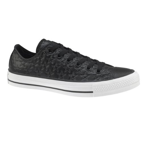 Converse Chuck Taylor Embossed Leather Ox Shoes - Black