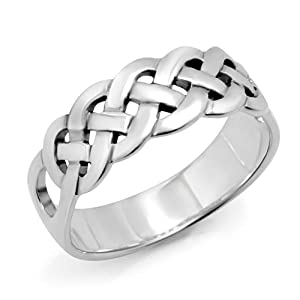 Amazon.com: 925 Sterling Silver Celtic Knot Weave Band Ring for300