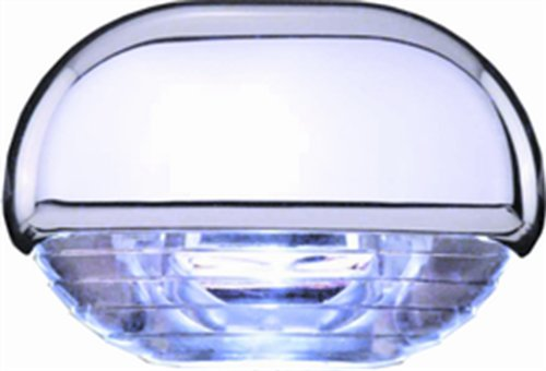 Hella 998560041 '8560 Series' Easy Fit Multivolt Blue 12-24V Dc Led Step Light With Clear Lens And Chrome Plated Plastic Cap