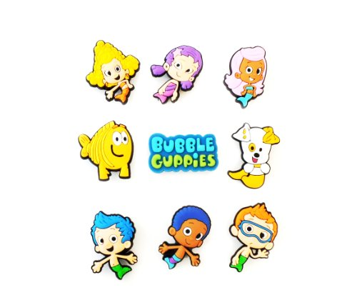 9 pcs Bubble Guppies # 4 Shoe Charms Decoration for Kids Children