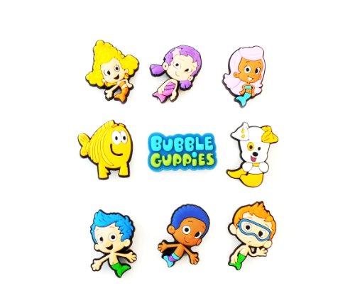 9 Pcs Bubble Guppies # 4 Shoe Charms Decoration For Kids Children front-721739