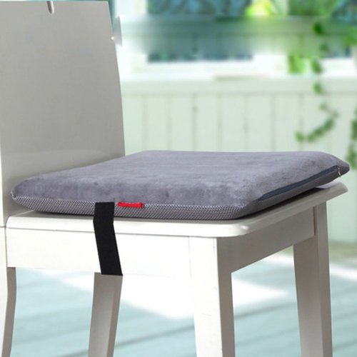 Ojia Memory Foam Seat Cushion Chair Pads Chair Cushion With Tie - 15.7''*15.7''*1.97'' (Gray)