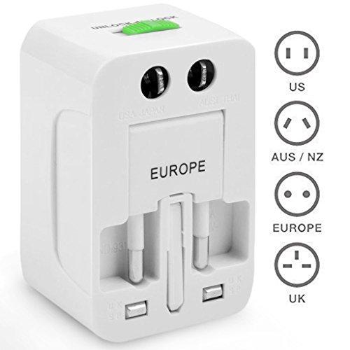 TheBlingZ.® Viaje universal conector/adaptador de viaje/Travel Adapter/Mundo Viaje Conector Adaptador EU US UK AU
